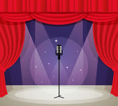 Stage with microphone — Stock Vector