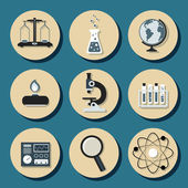 Chemistry flat icons — Stock Vector