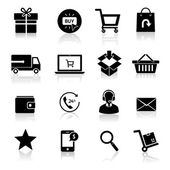 Shopping E-commerce Icons — Stock Vector