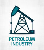 Oil industry poster — Vetorial Stock