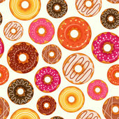 Donut seamless pattern — Stock Vector