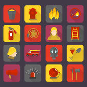 Firefighting icons set — Stock Vector
