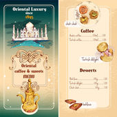 Oriental sweets menu — Stock Vector