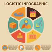 Logistic infographic icons — Stock Vector