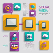 Social media infographics — Vector de stock