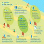 Running park infographic — Stock Vector