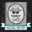 Vintage hats and glasses poster — Stock Vector #48634143
