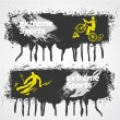 Extreme sports banner — Stock Vector