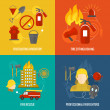 Firefighting icons composition — Stock Vector #48634265