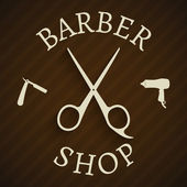 Hairdresser barber shop poster — Vecteur