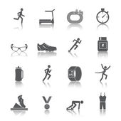 Running icons set — Vector de stock