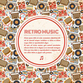 Retro music poster — Stock Vector
