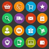 Shopping E-commerce Icons — Vector de stock