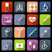 Medical icons flat — Vector de stock