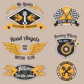 Motorcycle design badges — Stock Vector