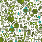 Ecology seamless pattern — Stock Vector