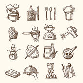 Cooking icons sketch — Stock Vector
