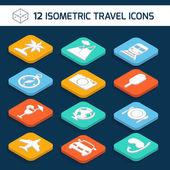 Conjunto de ícones de viagens — Vetor de Stock