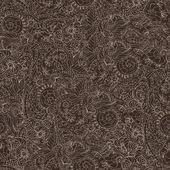 Ornamental seamless pattern dark — Stock Vector