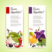 Herbs and spices banners vertical — Stock Vector