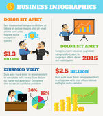 Business life infographics — Vector de stock