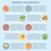Airport infographic set — Stock Vector