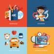 Education icons set — Stock Vector #48805373