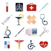 Medical icons set — Stok Vektör