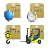 Logistic Icons Set — Vecteur
