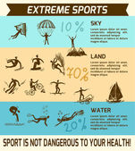 Extreme sports infographic — Stockvektor