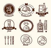Restaurant label sketch — Stok Vektör