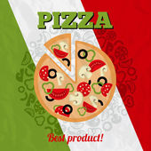 Italy pizza poster — Stock Vector