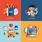 Education icons set — Vector de stock