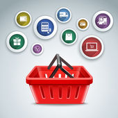 Shopping basket icons — 图库矢量图片