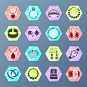 Jewelry icon hexagon — Stock Vector