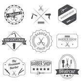 Hairdresser label set — Stock Vector