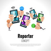 Journalist reporter concept — Stock Vector