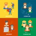 Superhero icon flat composition — Stock Vector #49162795
