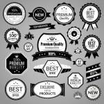 Black sale labels set — Stock Vector
