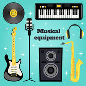 Music equipment set — Stock Vector