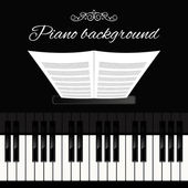 Piano keyboard background — Stock Vector