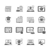 Online education icon — Stock Vector