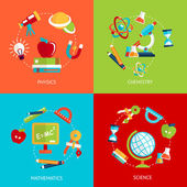 Education icons flat — Vettoriale Stock