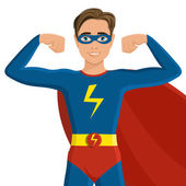 Boy in superhero costume — Stock Vector