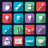 Dental Icons Flat — Stock Vector