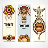 Tribal banners vertical — Vettoriale Stock