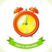 Education icon alarm clock — Stock Vector