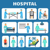Medical flat pictograms set — Stock Vector