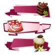 Sweets paper banners — Stock Vector #49513305