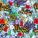 Graffiti characters seamless pattern — Stock Vector